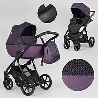 Детская коляска 2 в 1 Expander DEXO D-42303 цвет Plum, водоотталкивающая ткань + эко-кожа