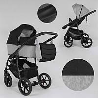 Детская коляска 2 в 1 Expander ELITE  ELT-70406 цвет Silver, ткань с водоотталкивающей пропиткой