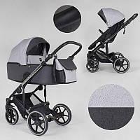Детская коляска 2 в 1 Expander EXEO  EX-21002 цвет Silver, ткань с водоотталкивающей пропиткой