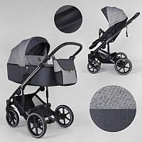 Детская коляска 2 в 1 Expander EXEO  EX-65488 цвет Carbon, ткань с водоотталкивающей пропиткой