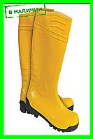 Сапоги резиновые с металлическим носком (ПВХ)