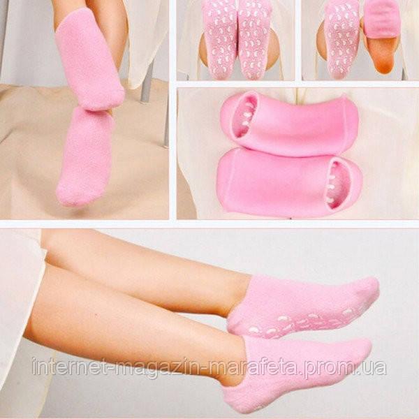 Гелевые увлажняющие и охлаждающие Spa носочки Розовые