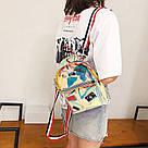 Прозрачный мини рюкзак сумка голограмный Luxy Moon.(AV127), фото 3