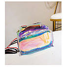 Прозрачный мини рюкзак сумка голограмный Luxy Moon.(AV127), фото 10