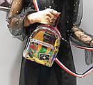 Прозрачный мини рюкзак сумка голограмный Luxy Moon.(AV127), фото 4