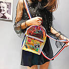 Прозрачный мини рюкзак сумка голограмный Luxy Moon.(AV127), фото 8