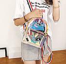 Прозрачный мини рюкзак сумка голограмный Luxy Moon.(AV127), фото 6