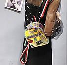 Прозрачный мини рюкзак сумка голограмный Luxy Moon.(AV127), фото 5