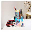 Прозрачный мини рюкзак сумка голограмный Luxy Moon.(AV127), фото 9