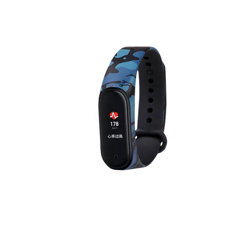 Силиконовый ремешок защитный ХАКИ синий № 25 фитнес трекер часы Xiaomi mi band 3 / 4 браслет аксессуар замена