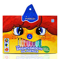"Пастель масляна 36 кольорів, Bright&Smooth,1100OP-36CB,ТМ""Marco"""