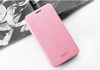 Шкіряний чохол книжка MOFI для Samsung Galaxy A8 A8000 рожевий, фото 1