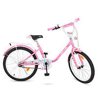 Велосипед детский PROF1 20д. Y2081  Flower, розовый,звонок,подножка