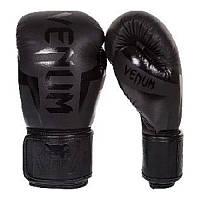 Боксерские перчатки MS 2970-1  2шт, 10OZ, черный, в кульке, в сетке, 33-17-10см