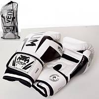 Боксерские перчатки MS 2970  2шт, 10OZ, белый, в кульке,в сетке, 33-17-10см