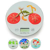 Весы кухонные электронные 0~5кг d20*1.9см R30288