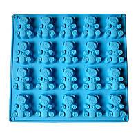 """Форма силикон для печенья """"Барни"""" 20шт/л 28*29.5*2см XY-C1134"""