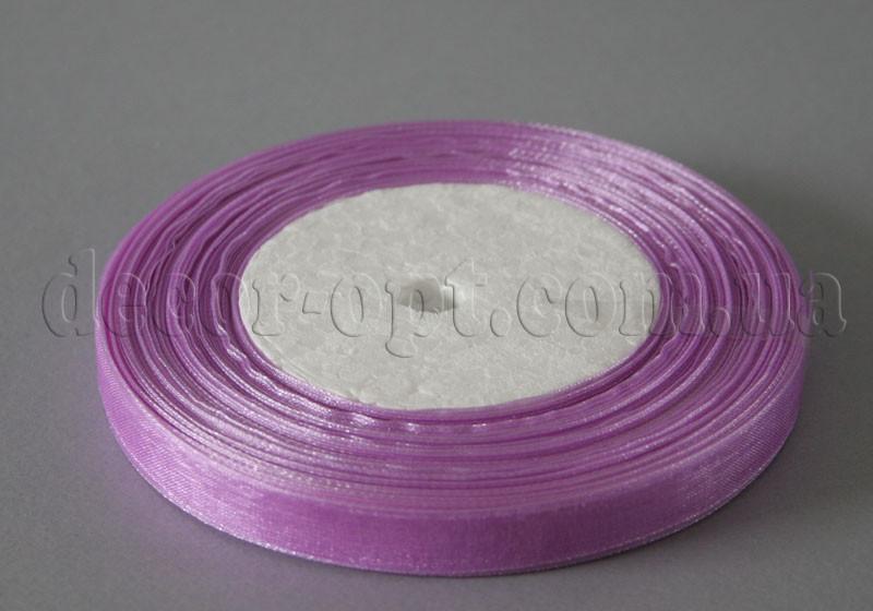 Лента органза сиреневая 1 см 50ярд 21