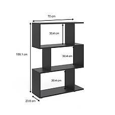 Удобный стеллаж для дома, лесенка, книжный шкаф из ДСП 3 отсека, Бетон, фото 3