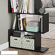 Удобный стеллаж для дома, лесенка, книжный шкаф из ДСП 3 отсека, Бетон, фото 5