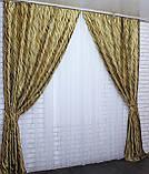 """Комплект готовых штор коллекция блэкаут """"Зёбра"""" Код 274ш(А), фото 3"""