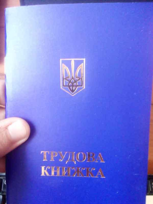 Трудовая книжка синяя (заказ от 10шт)