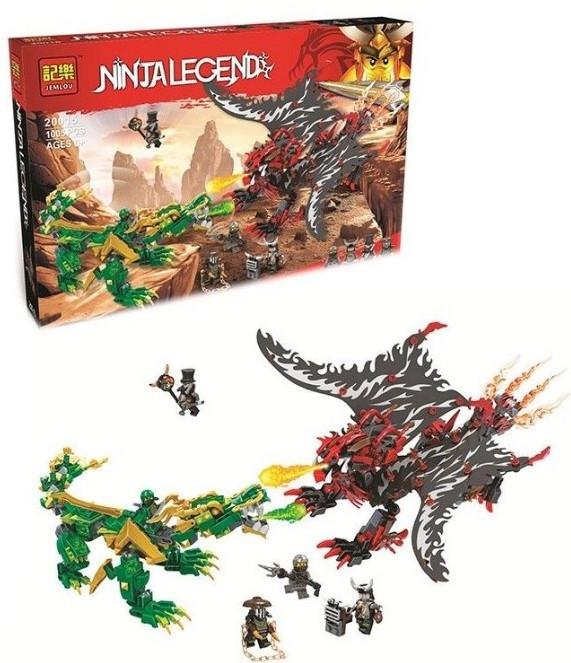 """Конструктор Jemlou Ninja Legend 20015 """"Битва драконів"""" 1005 деталей"""