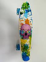 Скейт Пенни борд S 29661 Best Board колеса ПУ, светящиеся, фото 1