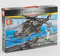 Конструктор вертолет Sembo Block 102458, 1020 деталей, фото 1