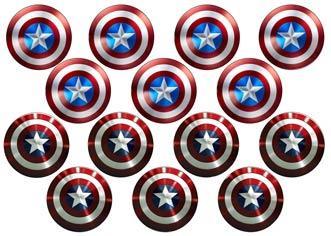 """Вафельна картинка  """"Капітан Америка"""""""