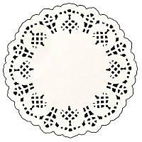 """Салфетки бумажные ажурные кондитер круг 250шт/уп 4.5"""" (11,5см) RD45250 (240уп)"""