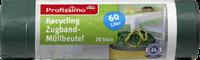 Profissimo Recycling Zugband-Müllbeutel 60l - Пакеты для мусора 60 л, 20 штук