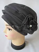 Красивые трикотажные шапки для женщин., фото 1