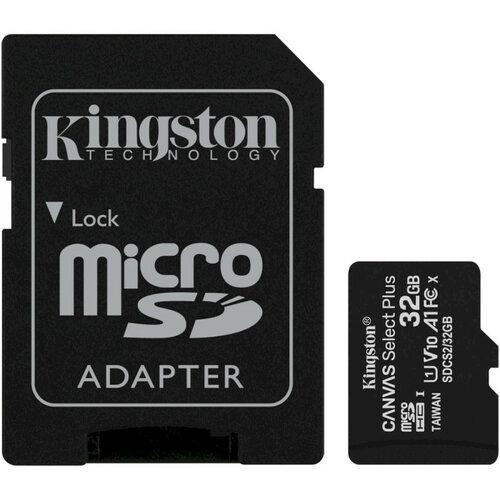 Карта памяти KINGSTON microSDHC 32Gb Canvas Select+ A1 (R100/W10) +ad