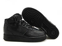 Кроссовки Nike Air Force 1 All Black Mid