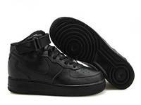 Кроссовки Nike Air Force 1 All Black Mid