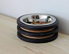 КІТ-ПЕС by smartwood Миска на подставке | Миска-кормушка металлическая для кошек котов котят - 1 миска 200 мл