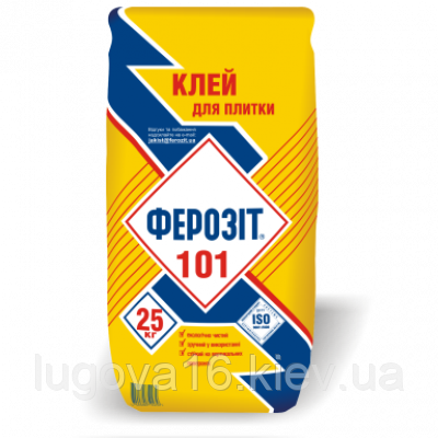 Клей для керамических плиток  Ферозит 101(для внутренних работ), 25 кг