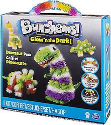 Конструктор-липучка Банчемс люмінесцентний Парк Динозаврів 200 дет - Bunchems, Dinosaur Pack, Glow'n The Dark