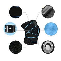 Бандаж для коленного сустава AOLIKES HX-7908 Black + Blue наколенник с пателярным кольцом