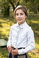 Детская классическая рубашка для девочек la perla (белый) 122-128 см Tiny look