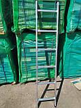 Приставна драбина алюмінієва на 13 сходинок, фото 4