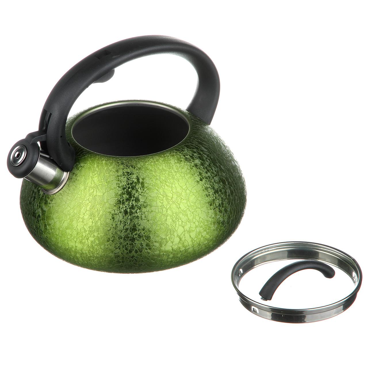 Чайник трёхлитровый со свистком три цвета