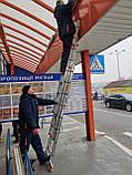Лестница алюминиевая трехсекционная универсальная усиленная 3 х 15 ступеней, фото 2