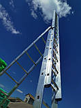 Лестница алюминиевая профессиональная трехсекционная универсальная 3 х 10 ступеней, фото 8