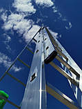 Лестница алюминиевая профессиональная трехсекционная универсальная 3 х 12 ступеней, фото 3