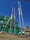 Лестница алюминиевая профессиональная трехсекционная универсальная 3 х 12 ступеней, фото 7