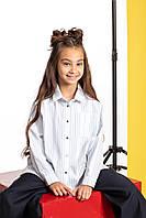 Школьная рубашка в полоску для девочки 110 PaMaranchi