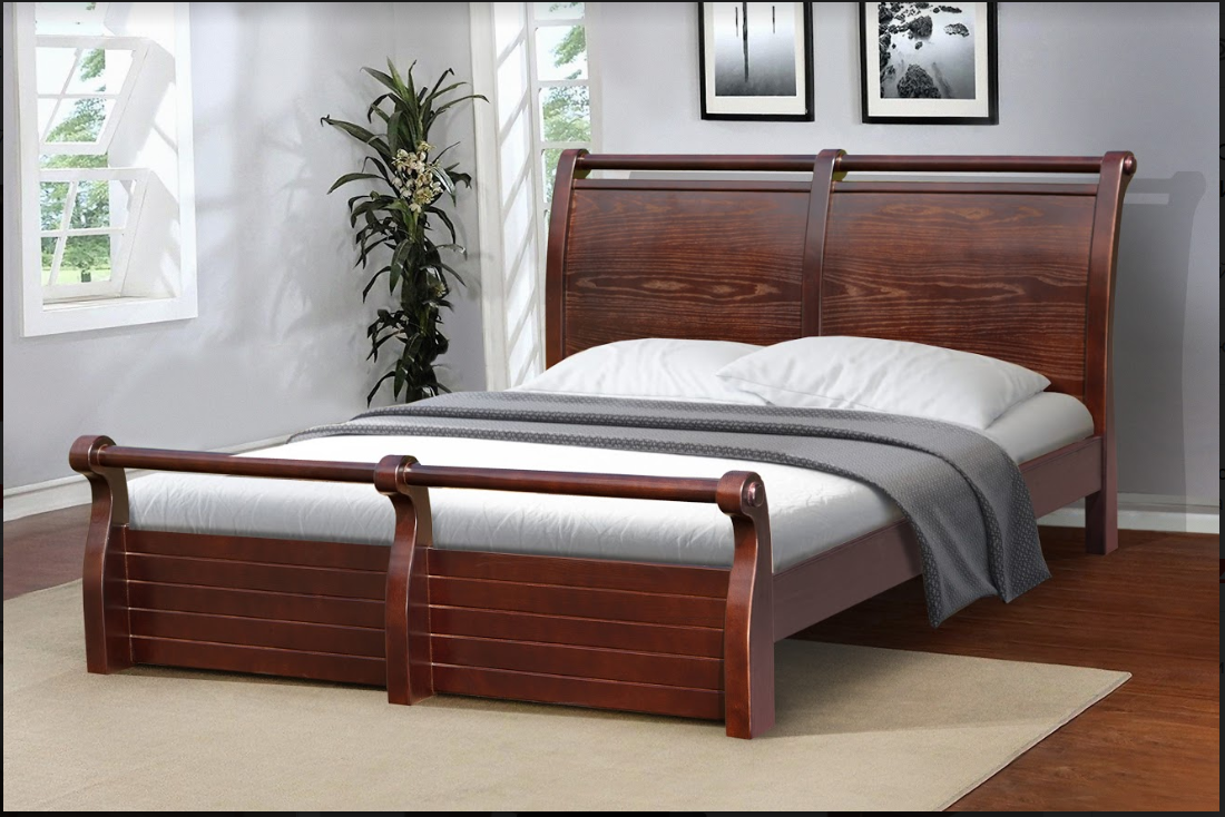 Кровать деревянная, двухспальная - Сицилия 1,6м