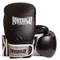 Боксерські рукавиці PowerPlay 3019 Чорні 12 унцій, фото 1